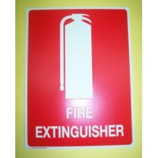 Luminous Fire Extinguisher Sign