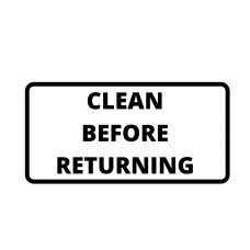 Equipment reminder stickers