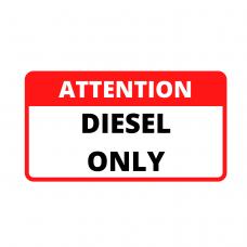 Attention Sticker Fuel Type
