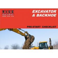 Excavator & Backhoe Pre-Start Checklist Book A5