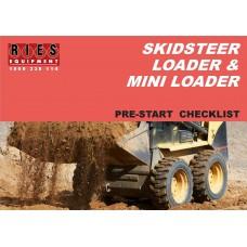 Skidsteer & Mini Loader Pre-Start Checklist Book A5